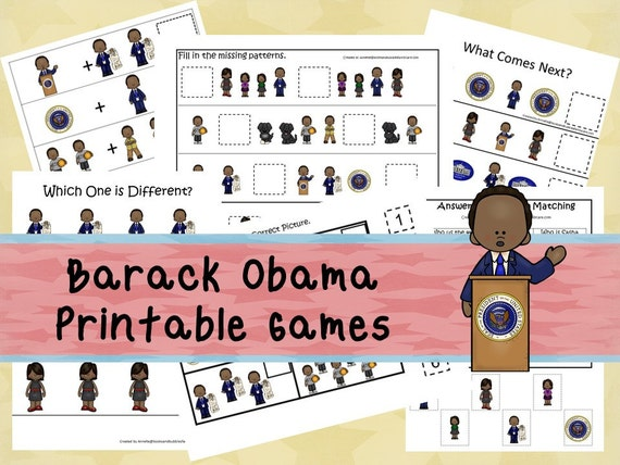 30 barack obama games curriculum download  by booksandbubbles
