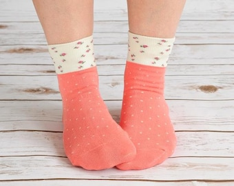Women Flower Bamboo Socks
