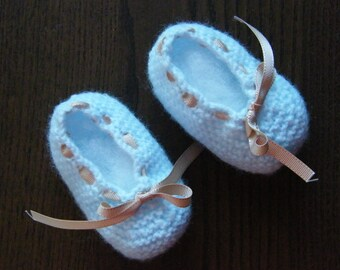 Ballet slippers booties baby girl