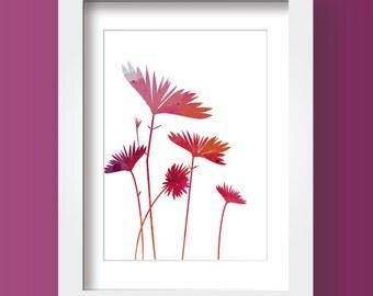 Wildflowers Print, Printable Decor, Flower Art, Digital Download