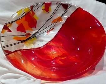 Fused glass bowl (B6)