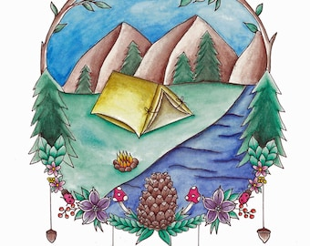 Camping Print