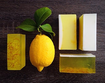 Lemon Soap, Goat Milk Soap: Natural Soap, Homemade Soap, Essential Oil, Handmade Soap, Hand Soap, Glycerin Soap, Bar Soap, Organic Soap