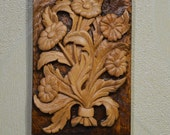 bouquet of flowers,  Wood flowers  decoratoin,  wood art sculpture,  wood wall art, a gift for a special occasion.