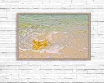 Beach art print / Mellow Yellow Stone