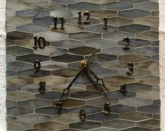 Handmade Ceramic Tile Wall Clock