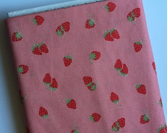 SALE Hello Darling Strawberries on Red