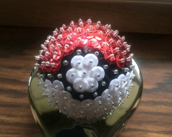 Pokeball Sequin Ornament