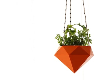 Hanging planter Diamond 3D printed Ruby