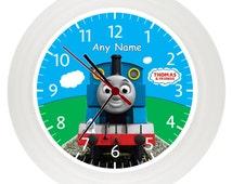 Personalised THOMAS The TANK ENGINE wall clock* Childrens Bedroom* Gift* Boys* Girls* birthday* christmas