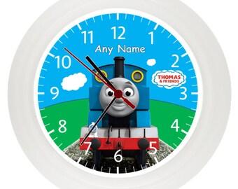 Personalized Train, wall clock, Children's Bedroom, Gift, Boys, Girls, Birthday, Christmas, Stocking filler