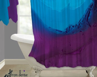 purple and brown shower curtain