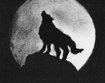 Bark at the Moon - Limited Edition Mounted Print