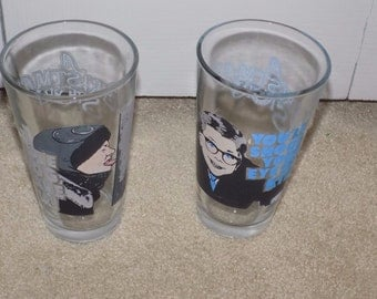Lot of (2) A Christmas Story Drinking Glasses Ralphie-You'll Shoot Your Eye Out!