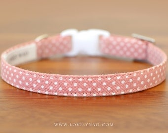 Lovely Dots Cat Collar – Rose Pink