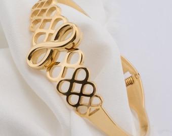 Gold Infinity Bangle