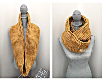 handcrafted crochet infinity scarf