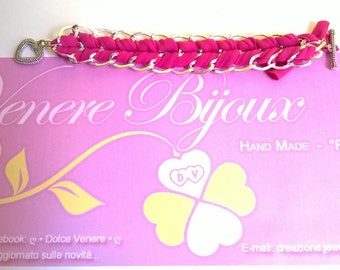 Fuchsia band bracelet