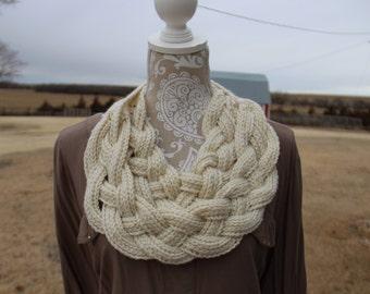 Handmade Crochet Braided Scarf