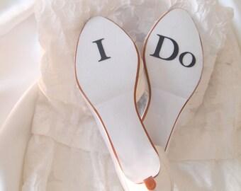 I Do Wedding Shoe Sticker