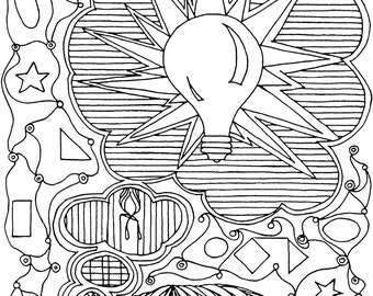 Great Idea Coloring Page