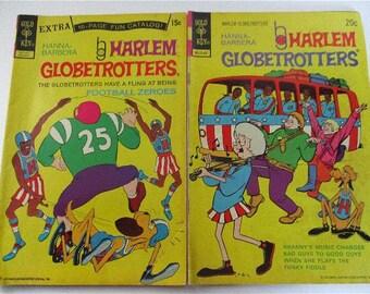 Vintage Set of Two Hanna Barbera Harlem Globetrotters Comic Books No. 4 & 10