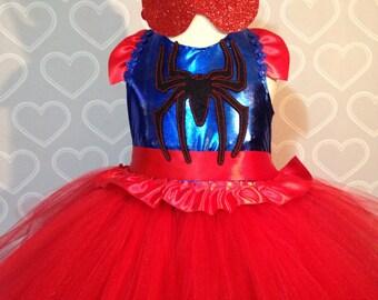 Spider-Man Dress/spider man tutu dress/super hero dress