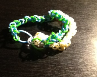 double front green, blue, and white ( a little tight on me :D) necklace