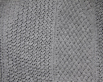 hand-made gray blanket