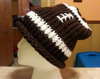 adult knitted football hat