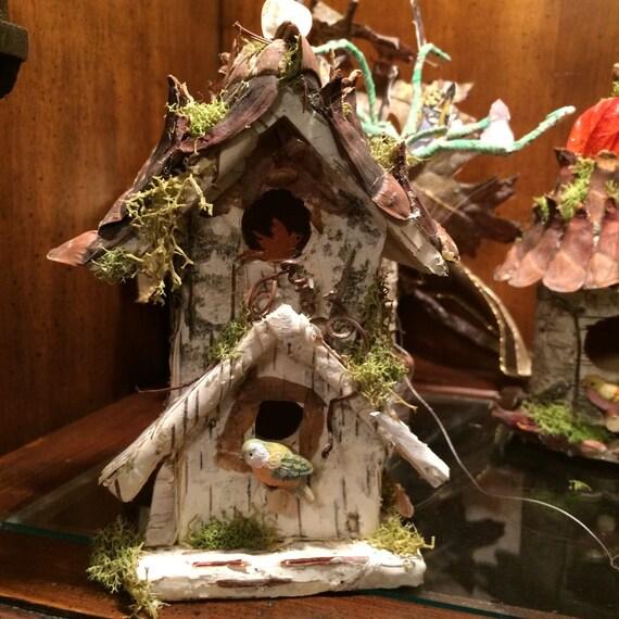 Items similar to Birdhouse, Handmade birdhouse, Whimsical ...