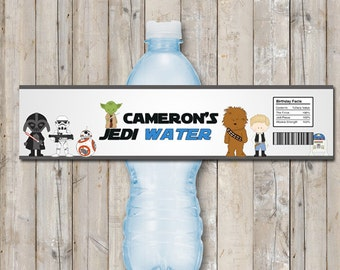 Star Wars water bottle label - personalized with your child's name - digital / printable DIY water labels