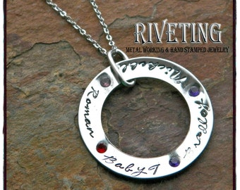 Family Circle Stainless Steel Name necklace