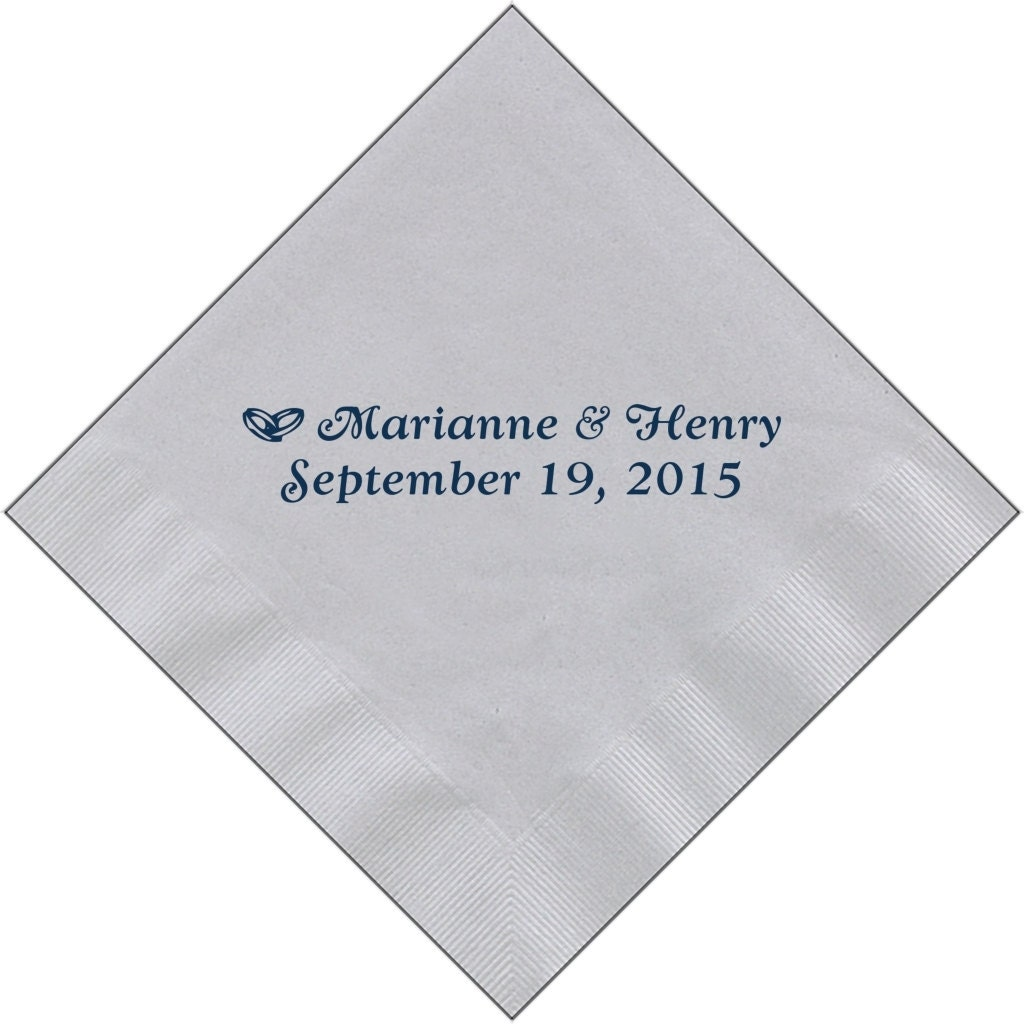 Personalized napkins wedding engagement cheap custom printed for Printed wedding napkins