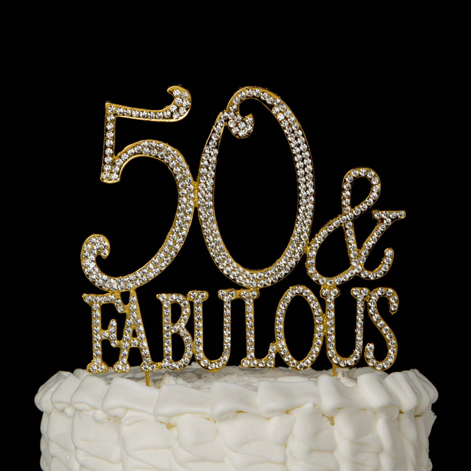 50 Fabulous Cake Topper For 50th on 50th Wedding Anniversary Ts