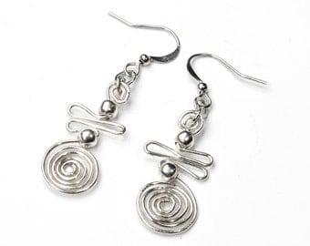 Earrings | silver wire earrings | Earrings | ethno gipsy boho jewelry