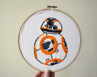 BB-8 Hand Embroidery Hoop