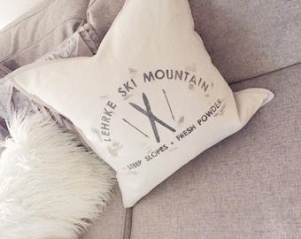 Custom Ski Pillow Cover
