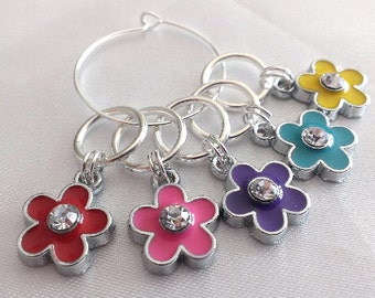 Flower stitch markers - floral knitting stitch markers - crochet stitch markers