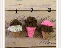 Polymer Clay Ice Cream Double Scoop charms