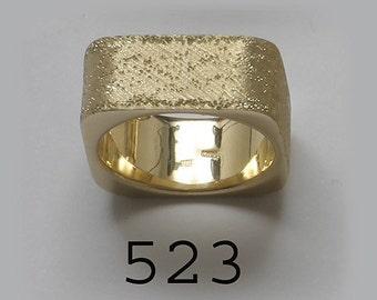 14K  Square ring