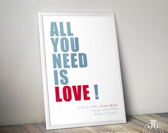 "Poster ""All you need is love"""