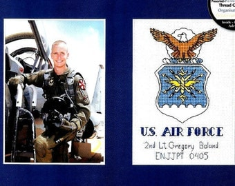 COUNTED CROSS STITCH / Military Pride Kit / Photo Display / Army - Navy - Air Force - Marines - Coast Guard