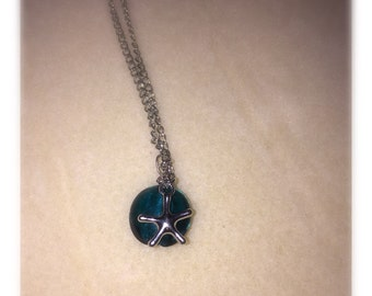 Blue Marble Star Necklace