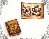 Demon Dollhouse Miniature Book – 1:12 Openable BOOK of DEMON Miniature Book – Demonology Magic Miniature Demon Book Printable DOWNLOAD