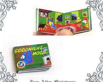Goodnight Moon Dollhouse Miniature Book – 12th Scale Openable and Readable Goodnight Moon Miniature Book Children Book - Printable DOWNLOAD
