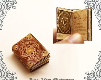 ASTROLOGY Dollhouse Miniature Book – 12th Scale OPENABLE Ancient Astrology Steampunk Antique Science Miniature Book - Printable DOWNLOAD