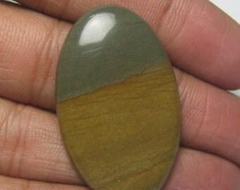 Landscape picture jasper cabochon oval shape semi precious gemstone cabochon size 25 x 41 mm approx id 457