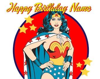 Wonder Woman Edible Cake / Cupcake Toppers
