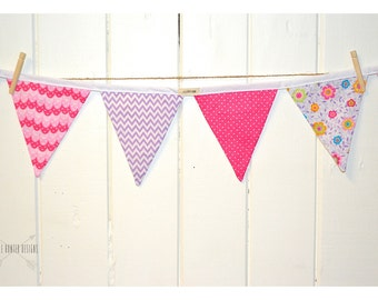 Pretty in Pink Bunting